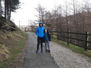 Bright Futures School - Sahil and Henry in the wind at Dovestone